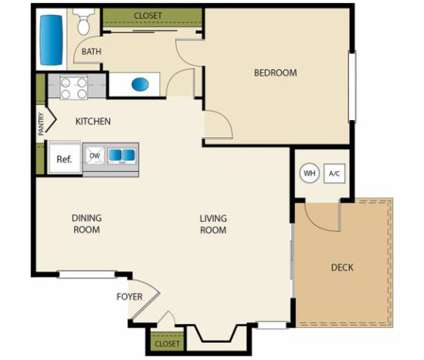 1 Bed - Edgewater Isle at 500 Northstar in Hanford CA is a Apartment