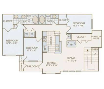 3 Beds - Weston Point at 13340 Outlook Dr in Overland Park KS is a Apartment