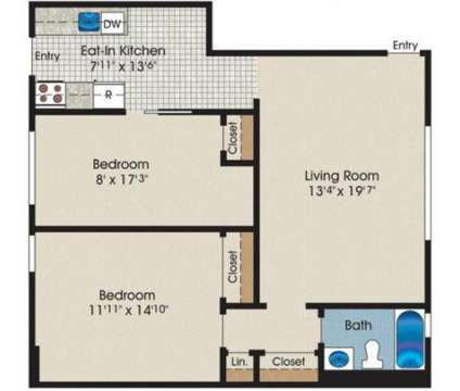 2 Beds - Royal Gardens Apartments at 3060 New Brunswick Avenue in Piscataway NJ is a Apartment