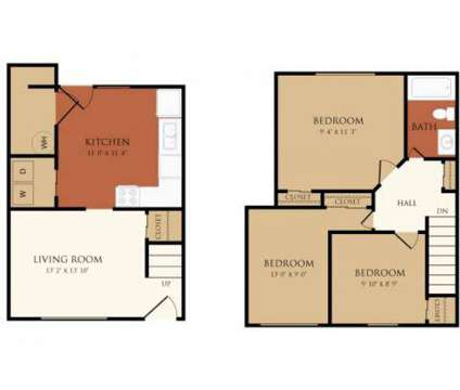 3 Beds - Chicopee Village Townhomes at 68 Eastern Drive in Chicopee MA is a Apartment