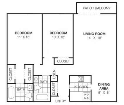 2 Beds - Riverwood Apartment Homes at 3649 173rd Court in Lansing IL is a Apartment