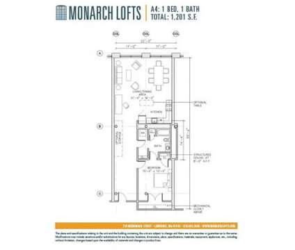 1 Bed - The Residences at Riverwalk at 210 Merrimack St in Lawrence MA is a Apartment