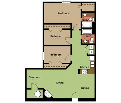 3 Beds - Stonebridge Crossing at 9135 Morning Ridge Rd in Cordova TN is a Apartment