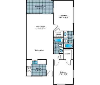 2 Beds - Imperial Gardens at 2100 Nursery Road in Clearwater FL is a Apartment