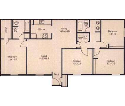 4 Beds - Monte Carlo, The at 10950 Briar Forest Drive in Houston TX is a Apartment