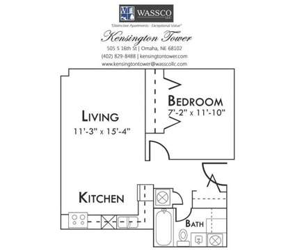 1 Bed - Kensington Tower at 505 S 16th St in Omaha NE is a Apartment