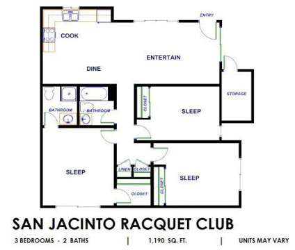 3 Beds - San Jacinto Raquet Club at 900 East Saturnino Road in Palm Springs CA is a Apartment
