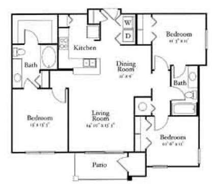 3 Beds - Enclave at Webster Park at 2640 Martin Luther King Jr Drive in Atlanta GA is a Apartment