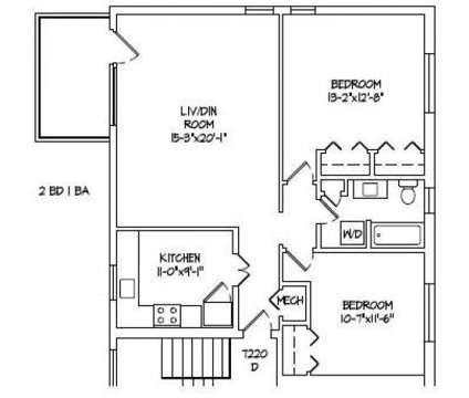 2 Beds - Wilshire Apartments at 7220-7238 Park Heights Avenue in Pikesville MD is a Apartment