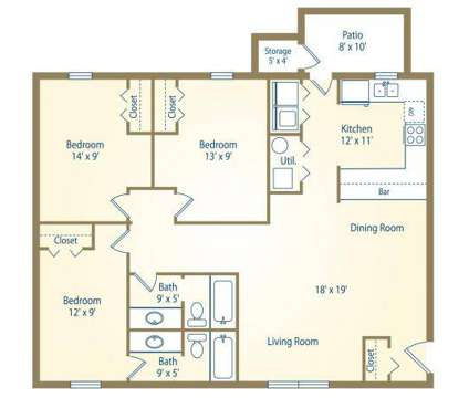 3 Beds - Hidden Hills at Oakdale at 2201 S Oakdale Drive in Bloomington IN is a Apartment