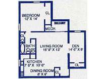 1 Bed - Misty Woods Apartments