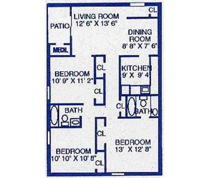 3 Beds - Merrimac Springs at 557-3 Diplomat Ct in Newport News VA is a Apartment