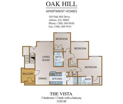 3 Beds - Oak Hill at 105 Oak Hill Drive in Athens GA is a Apartment