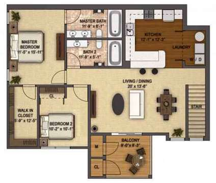 2 Beds - The Reserve at Prairie Point & Prairie Point Apartments at 9123 Cleveland St in Merrillville IN is a Apartment