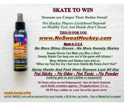 Hockey,SweatProof sweaty hands&sweaty feet, Stop blisters&Sweaty Gloves is a Snow Sports for Sale in Nokomis FL