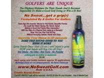 GOLF, Spray Once, 'SweatProof' Sweaty Hands, Gloves, Grips,Golfers Swing Better
