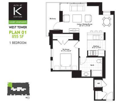 1 Bed - Alta at K Station at 555 West Kinzie in Chicago IL is a Apartment