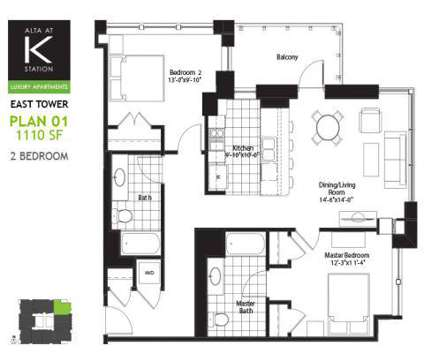 2 Beds - Alta at K Station at 555 West Kinzie in Chicago IL is a Apartment
