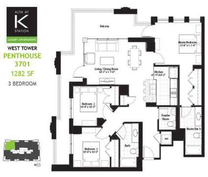 3 Beds - Alta at K Station at 555 West Kinzie in Chicago IL is a Apartment