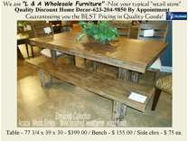 Solid Top All Wood Dining Room Table