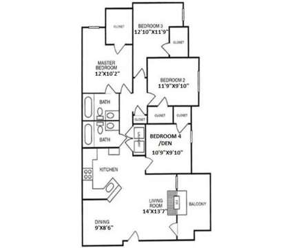 4 Beds - Alemeda Villas at 2950 Alemeda St in Fort Worth TX is a Apartment