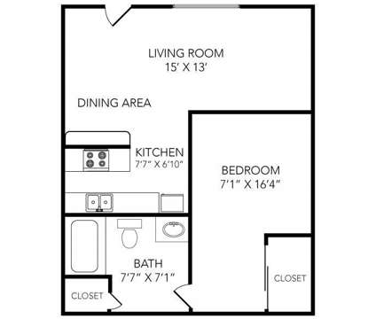 1 Bed - Country Club on 6th at 2500 West 6th St in Lawrence KS is a Apartment