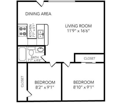 2 Beds - Country Club on 6th at 2500 West 6th St in Lawrence KS is a Apartment