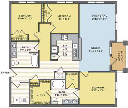 3 Beds - Station Square at Cosner's Corner at 9419 Cumberland Dr in Fredericksburg VA is a Apartment