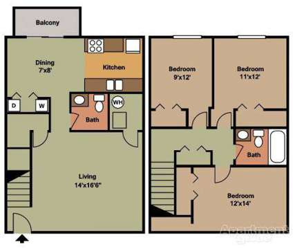 3 Beds - Arbor Reserve Apartments and Townhomes at 146 W Hatch Ave in Coldwater MI is a Apartment