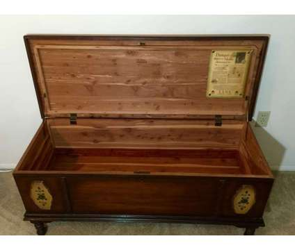 Antique 1920's Lane Cedar Chest & Henkel Harris Mahogany Mirror is a White Antiques for Sale in Palm Harbor FL
