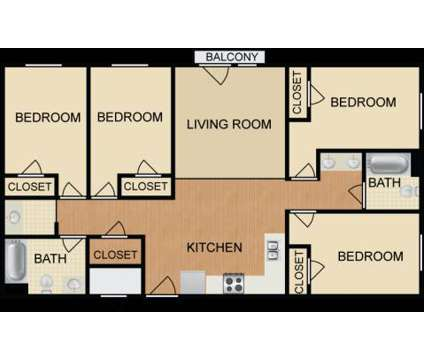 4 Beds - College Crossing At National-Student Housing Community at 1840 National Ave in Indianapolis IN is a Apartment