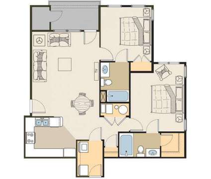 2 Beds - The Meadows at Park Avenue at 12674 South Sienna Meadow Way in Riverton UT is a Apartment