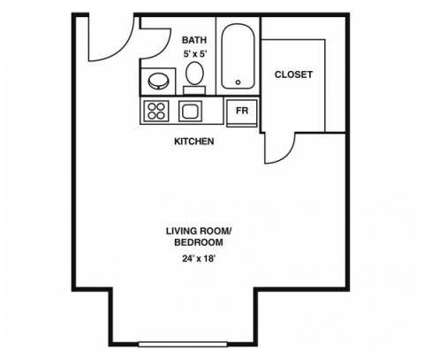 Studio - Cabot Crossing at 130 Bowden St in Lowell MA is a Apartment