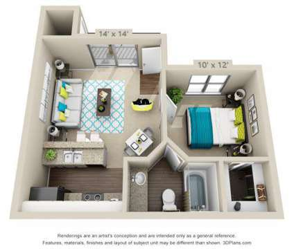 1 Bed - Hawthorne at the District at 2239 Cromwell Circle in Austin TX is a Apartment