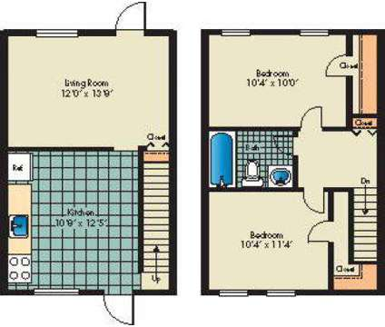 2 Beds - Highland Village Townhomes at 3953 Mcdowell Lane in Halethorpe MD is a Apartment
