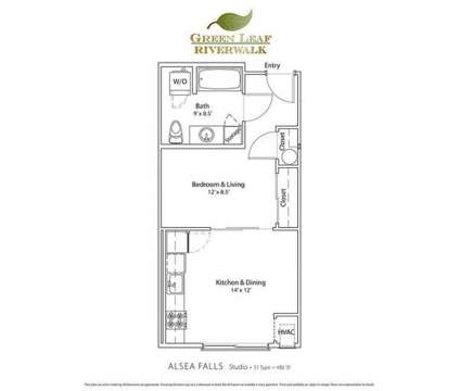 Studio - Green Leaf Riverwalk at 470 Alexander Loop in Eugene OR is a Apartment