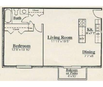 1 Bed - Colonial Crest Apartments at 405 S Morrison Rd in Muncie IN is a Apartment