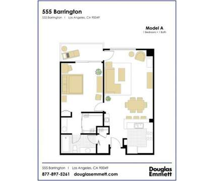 1 Bed - 555 Barrington at 555 South Barrington Avenue in Los Angeles CA is a Apartment