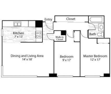 2 Beds - The Mezzo at 901 Sherman St in Denver CO is a Apartment