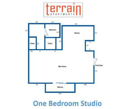 Studio - Terrain Apartments at 700 Mansfield Ave in Pittsburgh PA is a Apartment