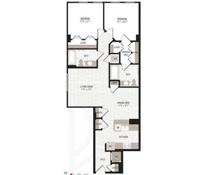2 Beds - Jefferson Marketplace at 1550 Seventh St Nw in Washington DC is a Apartment