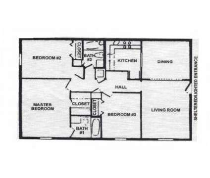 3 Beds - Castlegate Luxury Apartment Homes at 5600 Keele St in Jackson MS is a Apartment
