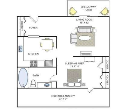 Studio - Lakeshore on the Hill Apartments at 5873 Lake Resort Terrace in Chattanooga TN is a Apartment