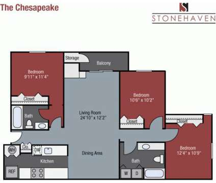 3 Beds - Stonehaven Apartments at 7030 Gentle Shade Rd in Columbia MD is a Apartment