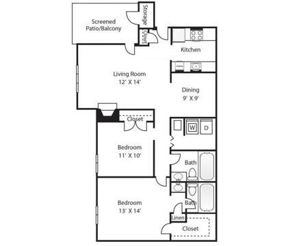 2 Beds - Pine Winds at 1301 Pinewinds Drive in Raleigh NC is a Apartment