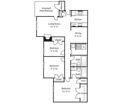 3 Beds - Pine Winds at 1301 Pinewinds Drive in Raleigh NC is a Apartment