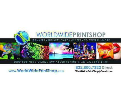 ++ #1 WorldWidePrintShop 1000 $75 Business Cards FastTurnaround ++ is a Design Services service in Houston TX