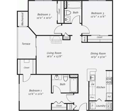 3 Beds - Eagle Rock at Freehold at 100 Lambert Way in Freehold NJ is a Apartment