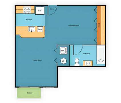 Studio - Sir Gallahad at 11030 Main St in Bellevue WA is a Apartment