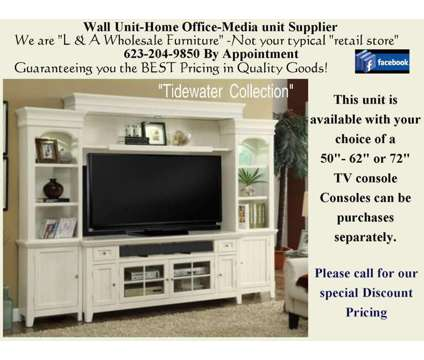 Large ENTERTAINMENT Wall in Vintage White is a White Home Decors for Sale in Phoenix AZ